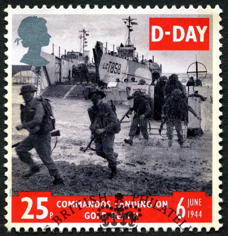 攻击开始日英国邮票 库存照片