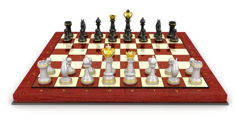 开始比赛的棋盘设定 库存例证