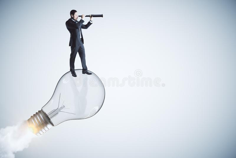 开始,想法和视觉概念 库存图片