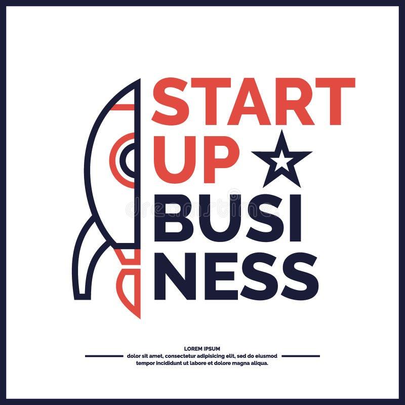 开始  收入和成功 商业Infographics 库存例证