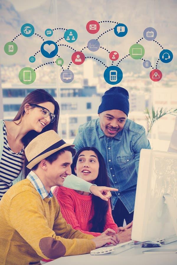 开年轻创造性的队的综合图象会议 库存例证