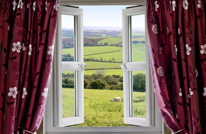 开张农村视图视窗 库存图片