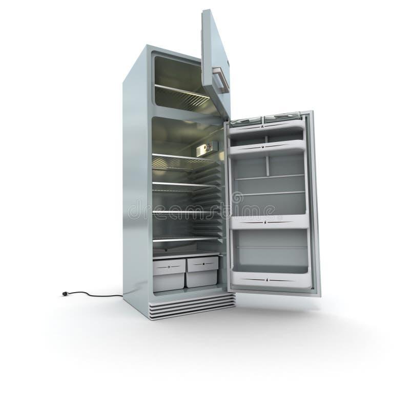 开张冰箱 向量例证