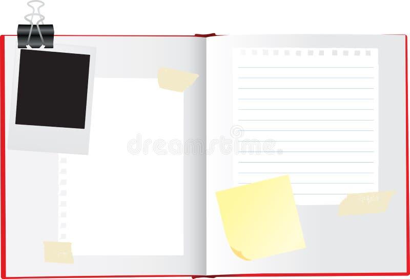 开张剪贴薄写生簿 向量例证