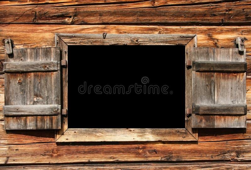 开张木视窗为使用作为广告牌 库存图片