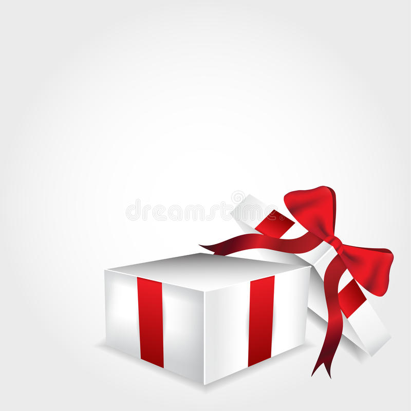 开张礼物盒 库存例证