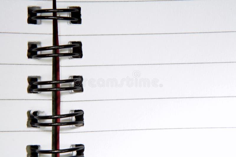 开张螺纹笔记本 免版税库存照片