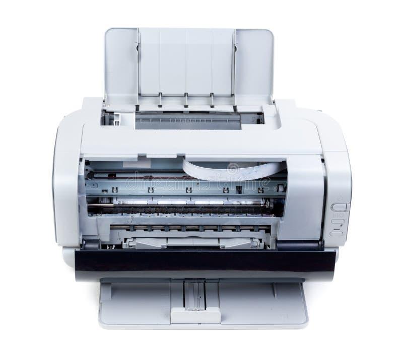 开张颜色喷墨打印机 库存照片