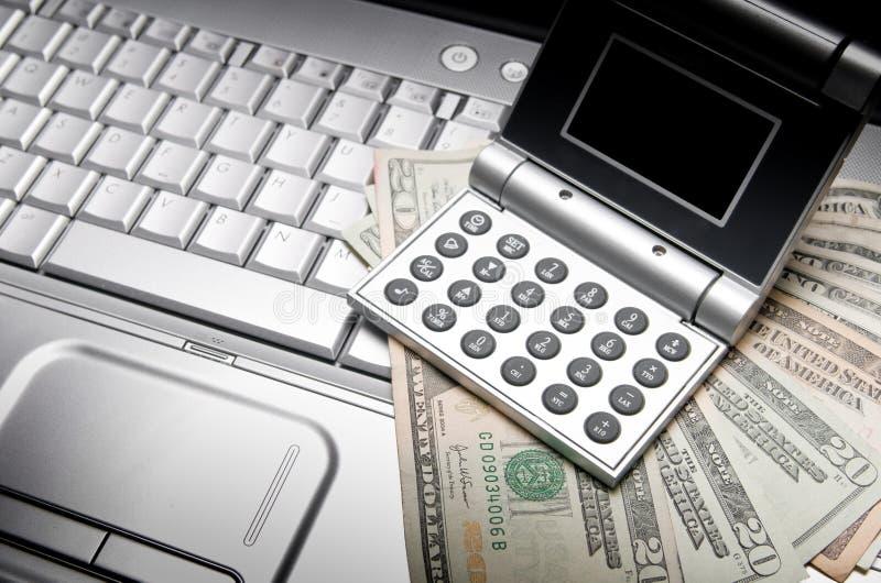 开户在线财务 免版税库存图片