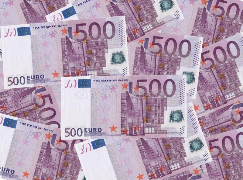 开户欧洲欧元五重点一百货币附注绳索 图库摄影