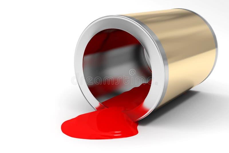 开户油漆红色 免版税库存图片