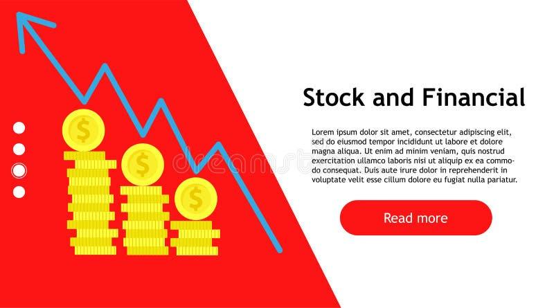 开户财务管理事务的股市 互联网成功图表图例证财务金钱 商人战略 向量例证