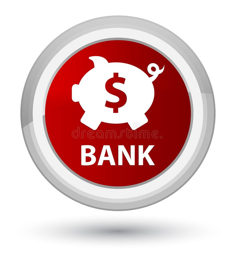 开户贪心箱子美元的符号最初红色圆的按钮 皇族释放例证