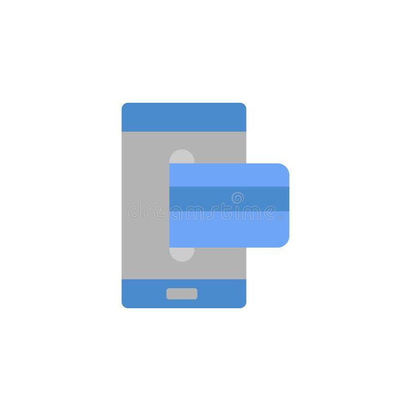 开户,机动性、付款,信用卡,金钱两种颜色的蓝色和灰色象 向量例证