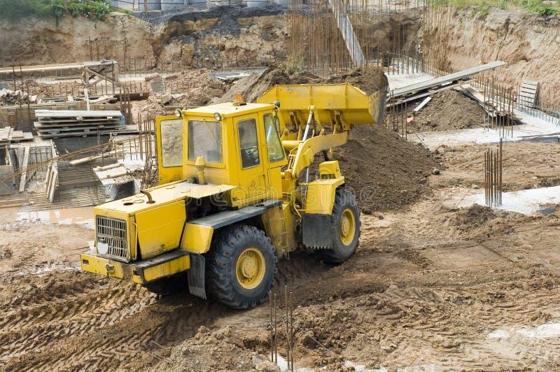 开掘挖泥机 库存图片