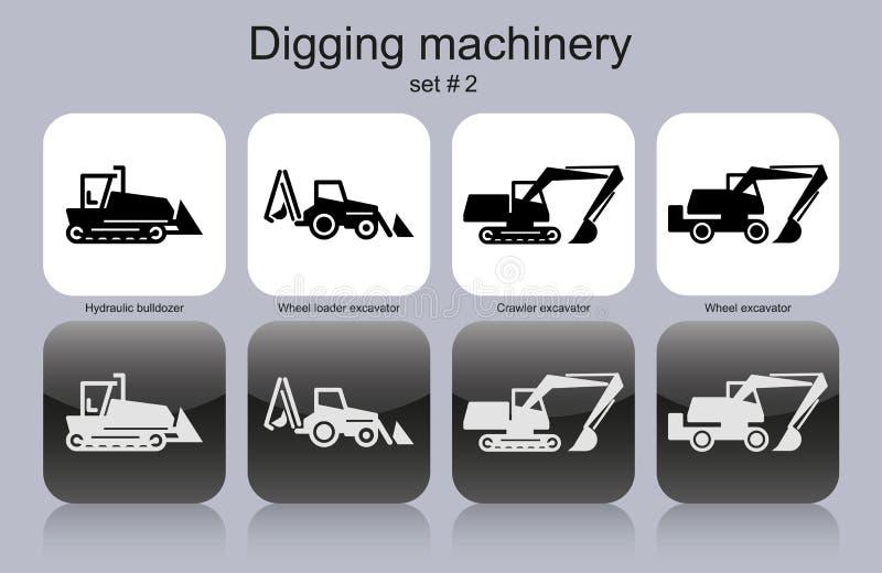 开掘的机械 库存例证