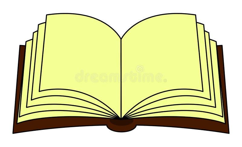 开放书传染媒介clipart,标志,象设计 背景钝齿轮例证查出的白色 库存例证