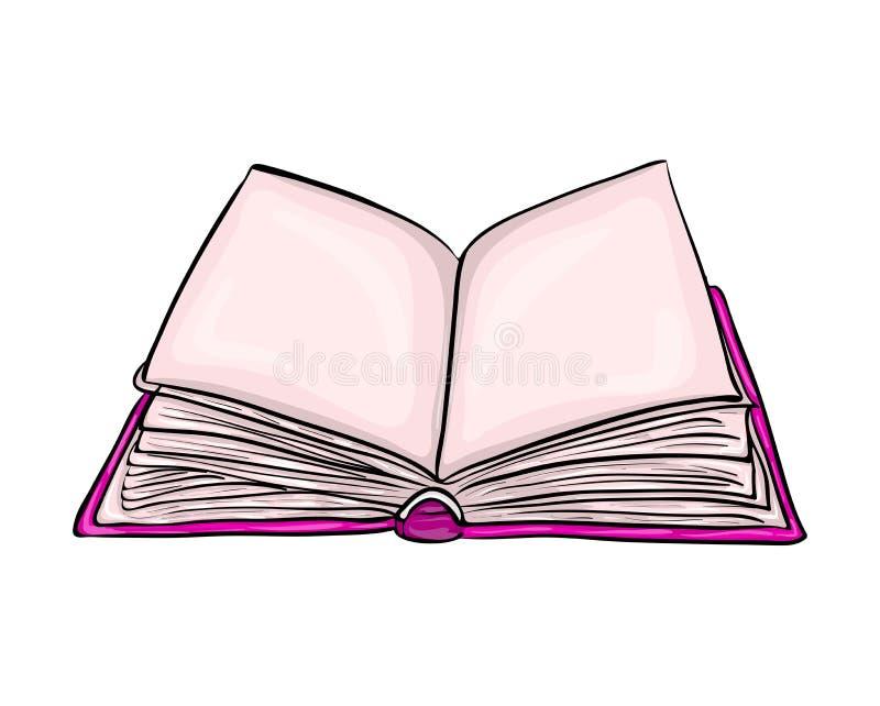 开放书动画片传染媒介标志象设计 美好的illustrat 库存例证