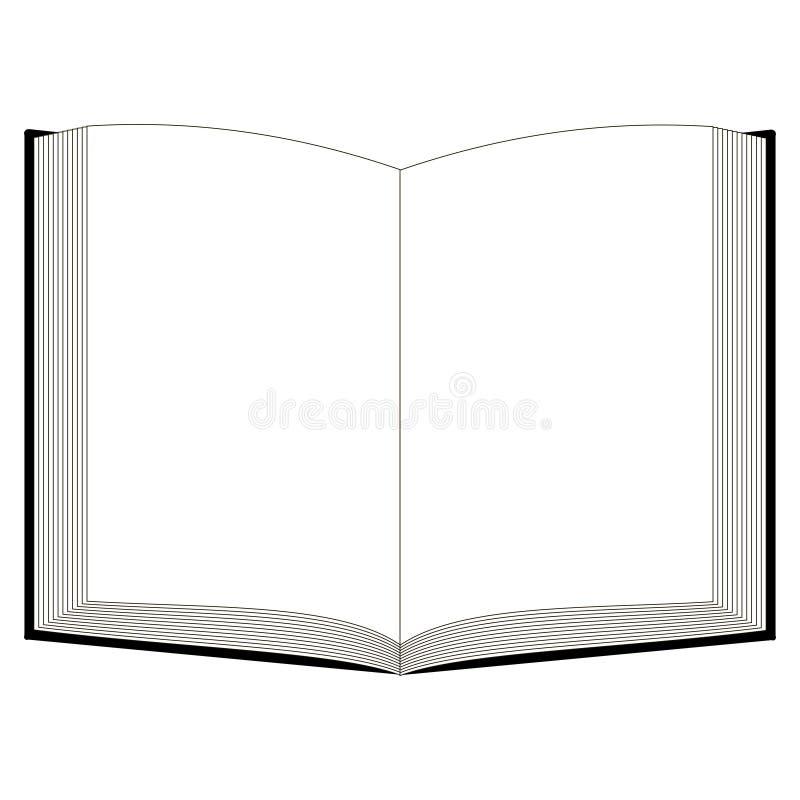 开放书大模型,传染媒介模板开放书圣经古兰经 皇族释放例证