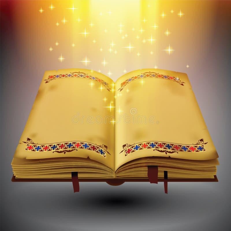 开放书的魔术 皇族释放例证