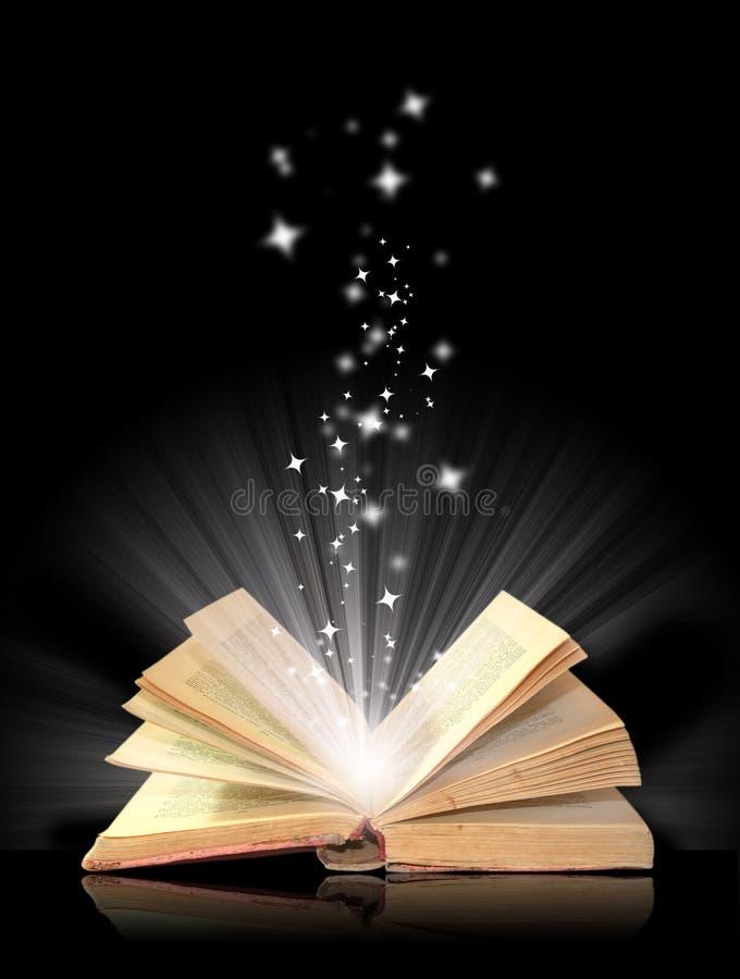 开放书的魔术 向量例证