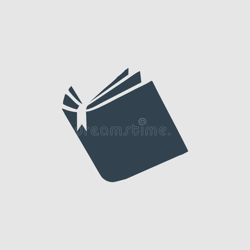 开放书组合图案商标启发 皇族释放例证