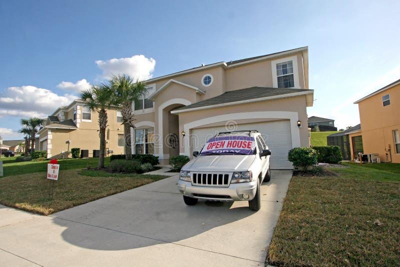 开放佛罗里达家庭的房子 库存图片