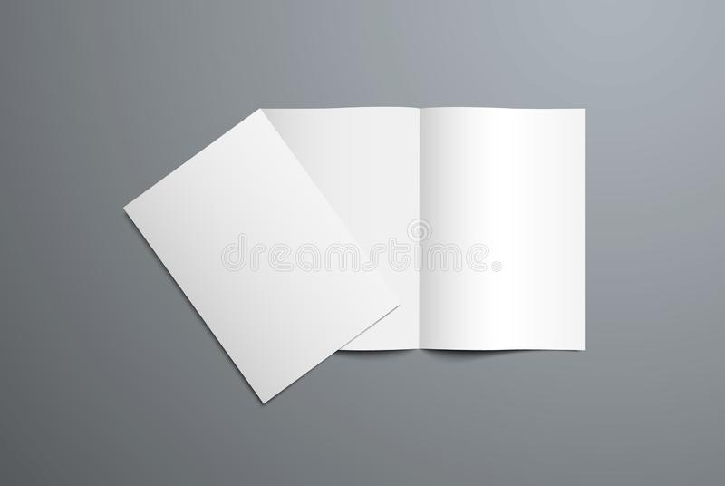 开放和闭合的两褶的小册子现实传染媒介大模型  皇族释放例证