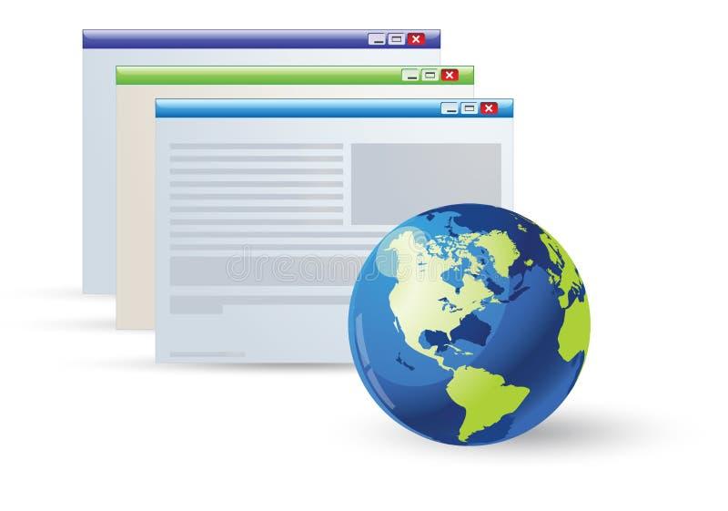 开放应用的图标 库存例证