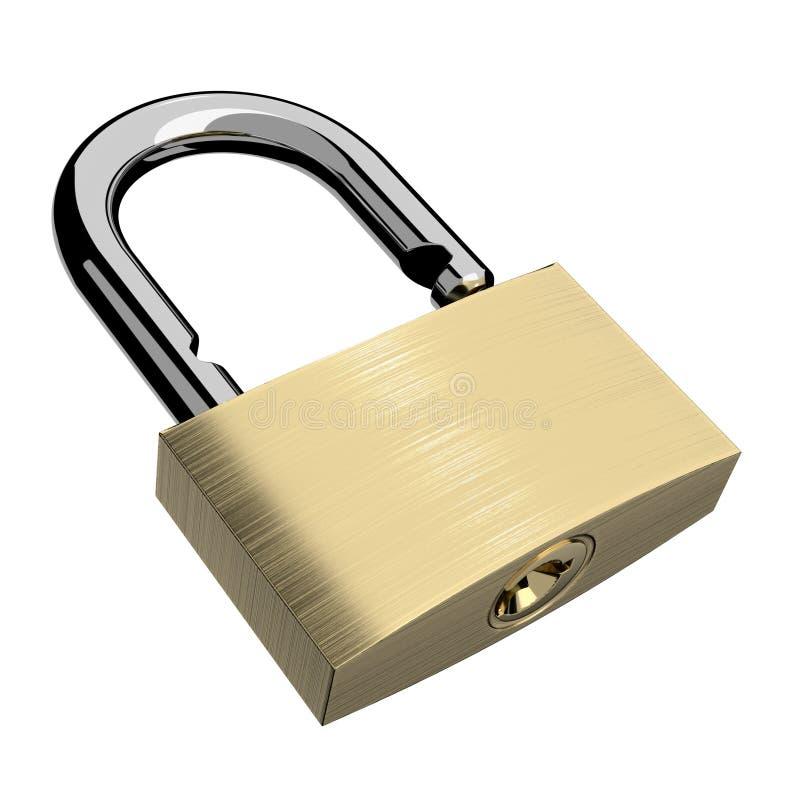 开放查出的锁定 向量例证