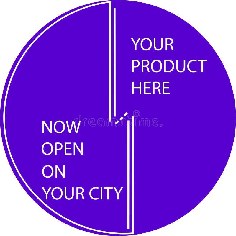 开放现在您的产品的广告象 库存照片
