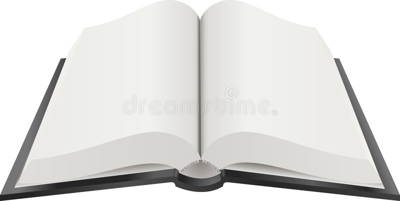 开放的书图解 向量例证