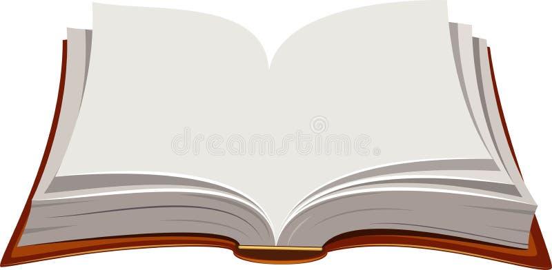 开放的书 皇族释放例证