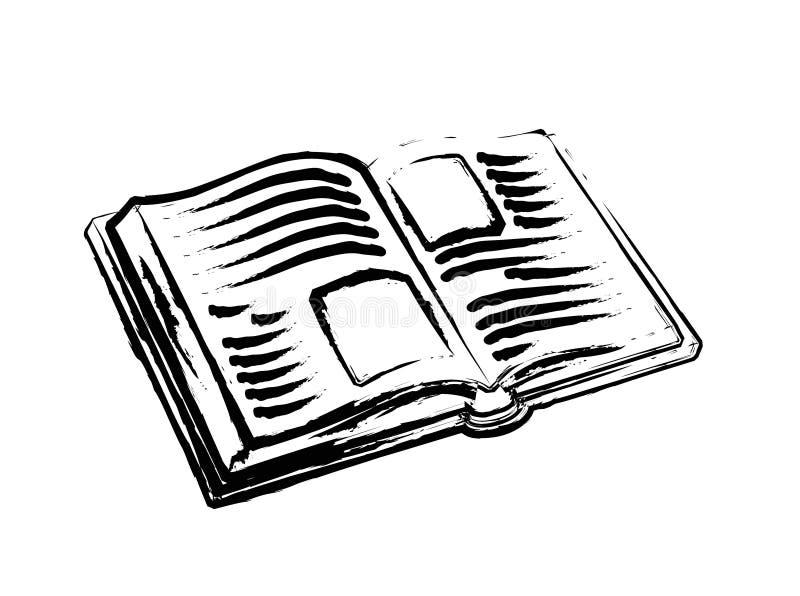 开放的书 库存例证