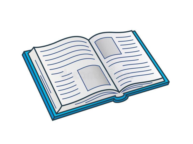 开放的书 向量例证