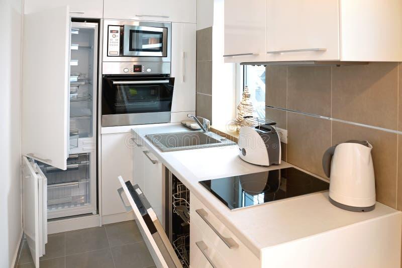 开放的厨房 免版税库存图片