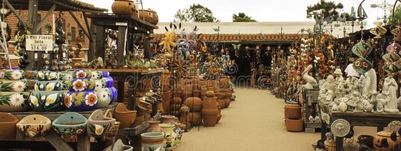 开放的市场,老城镇圣迭戈 图库摄影