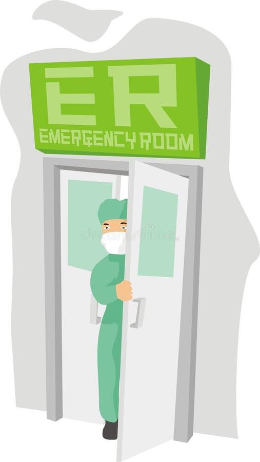开放的急救室 库存例证