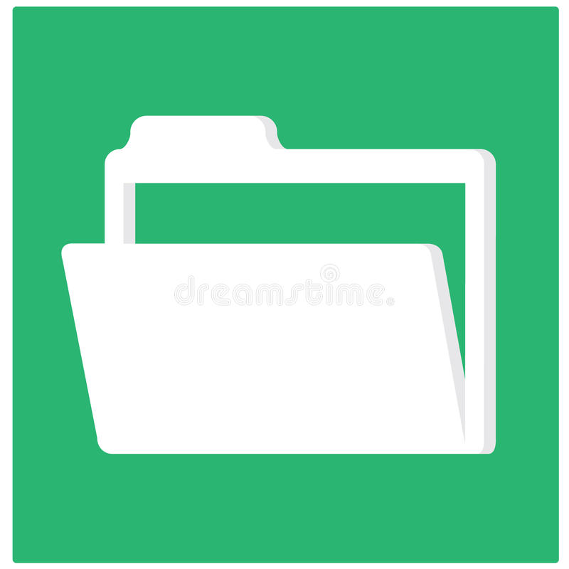 开放的文件夹 向量例证