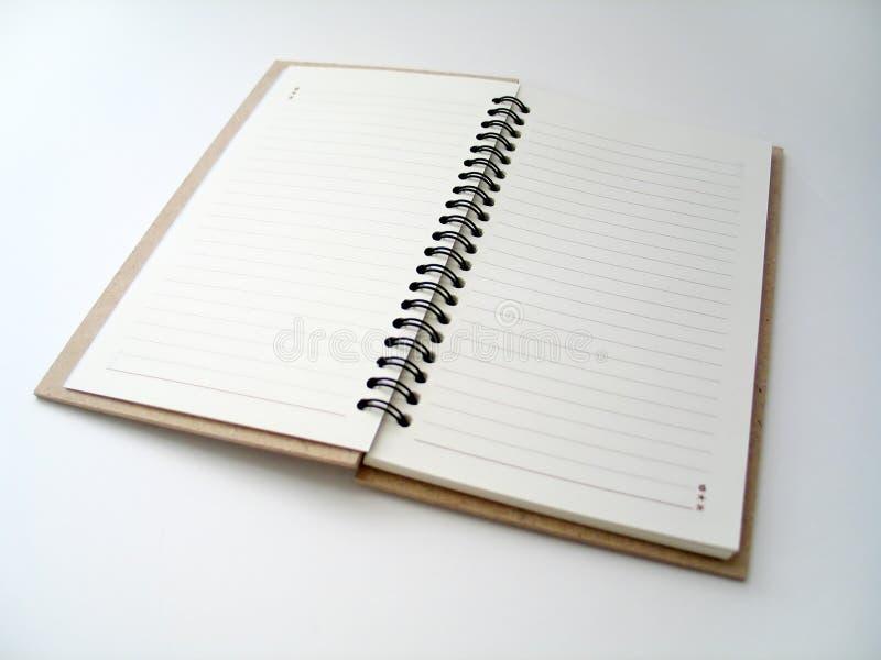 开放的日记帐 免版税库存图片