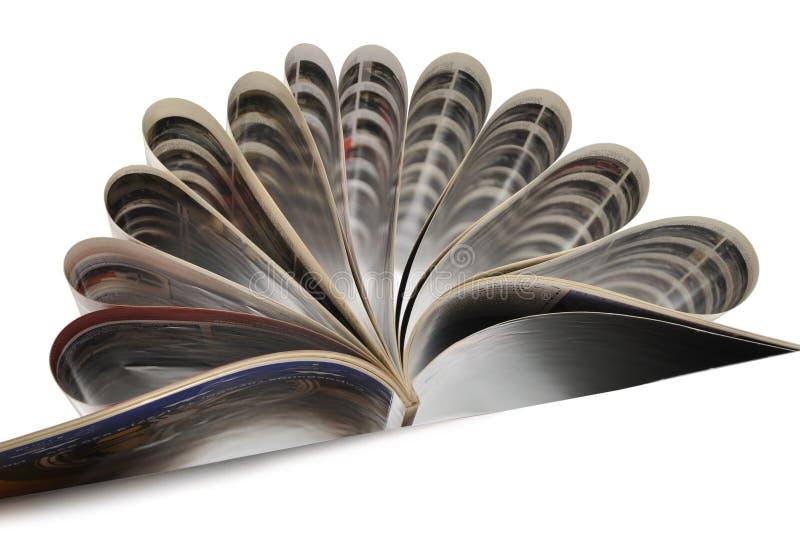 开放的杂志 库存图片