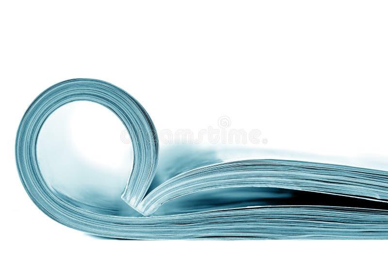 开放的杂志 免版税库存图片