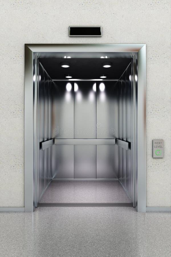 开放的电梯 皇族释放例证