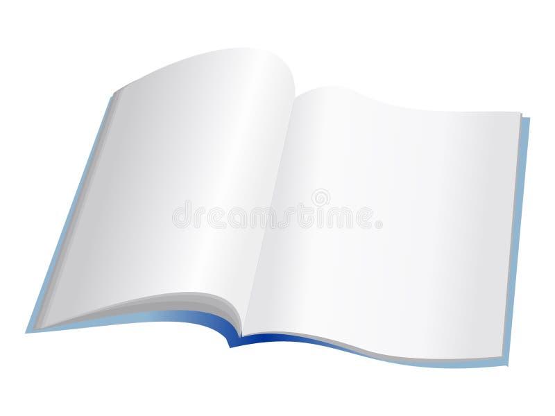 开放的笔记本 库存例证