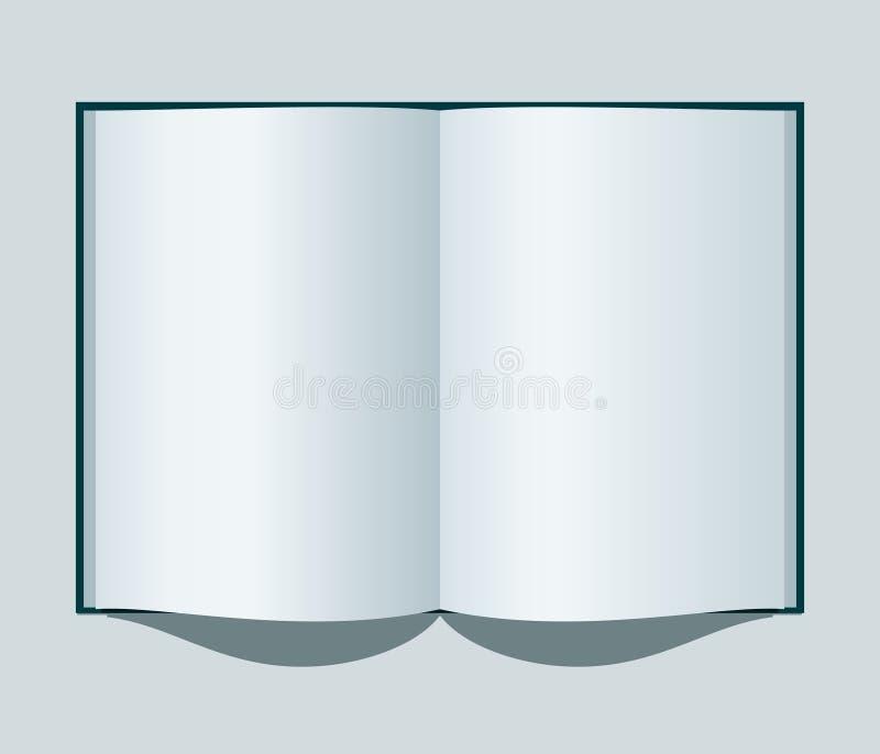 开放的笔记本 皇族释放例证