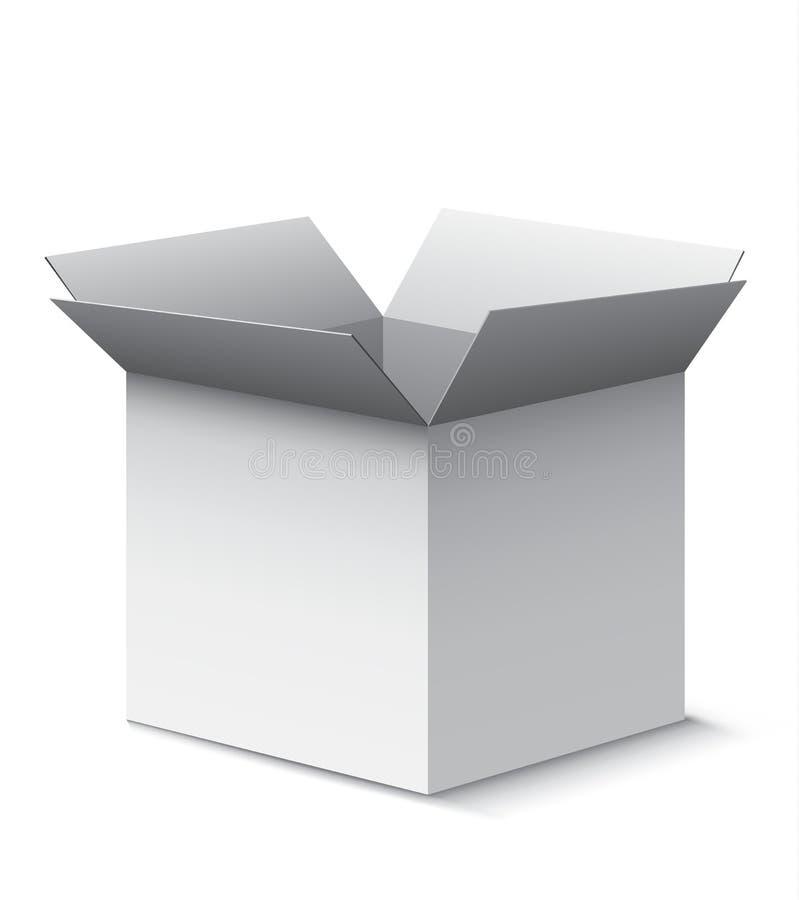 开放的配件箱 皇族释放例证