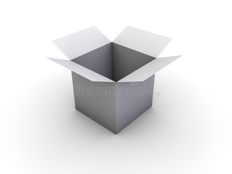 开放的配件箱 库存例证