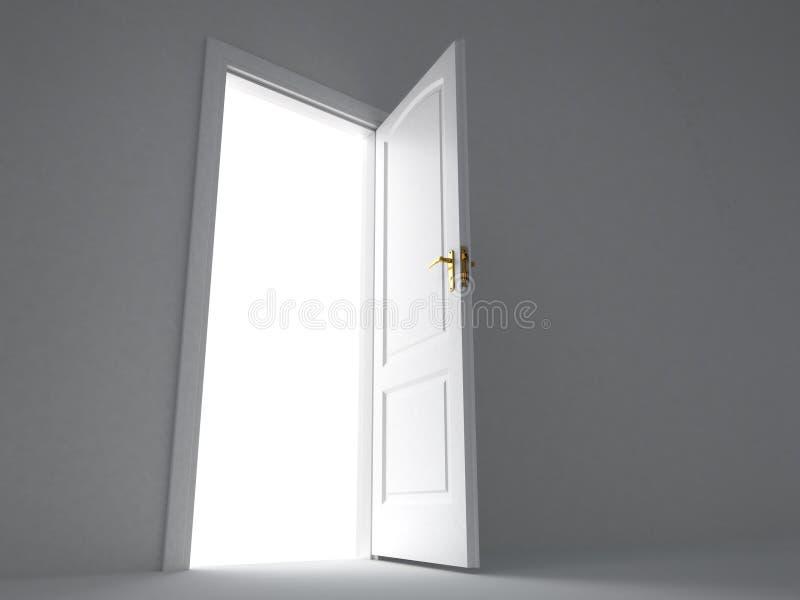 开放的门 库存例证