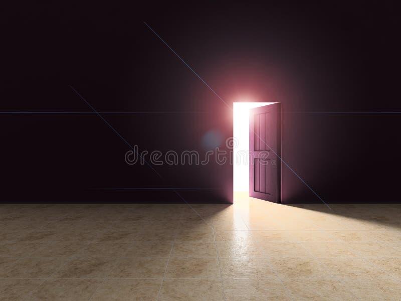 开放的门 向量例证