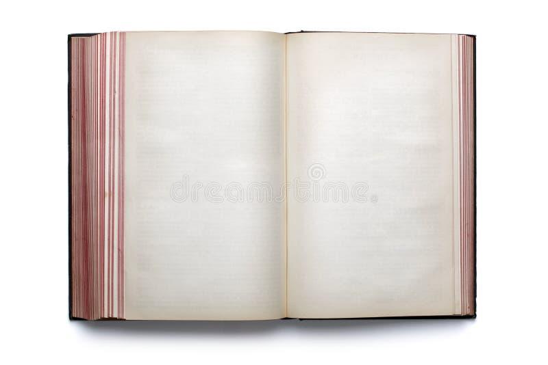 开放空白书的精装书 库存图片